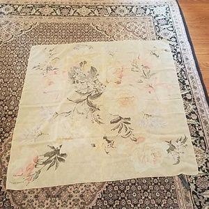 Vtg Ellen Tracy silk scarf tlc